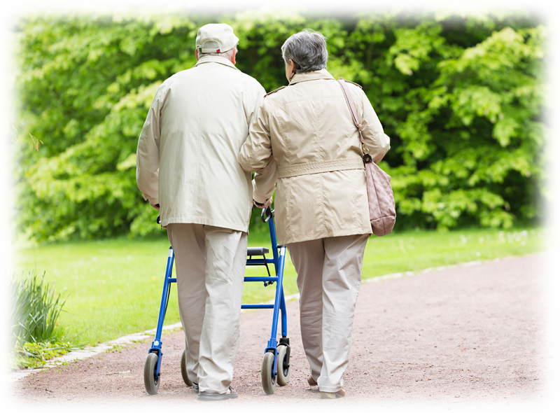 older couple walking rectangle